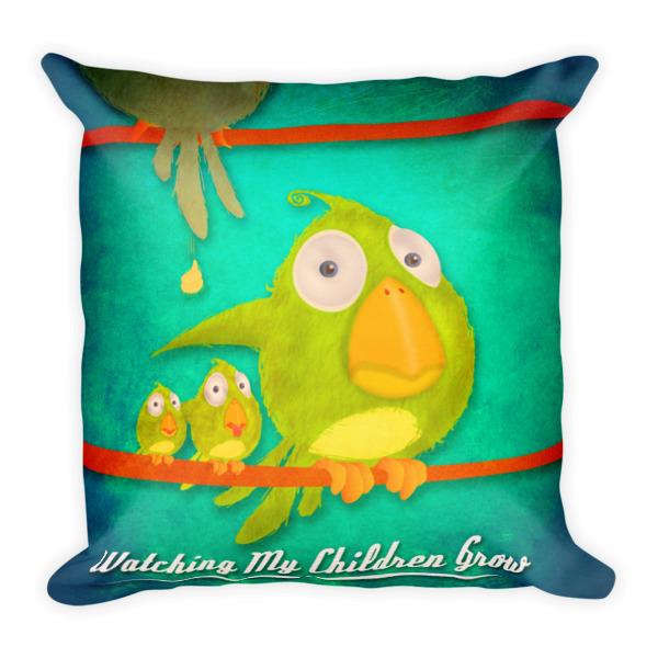 Watching My Children Grow pillow